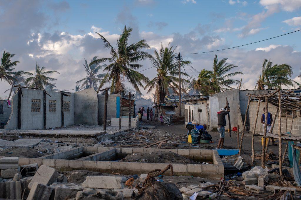 Bild på landskapet efter cyklonen i Mozambique.